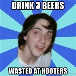 Stoner Kid Kale - Drink 3 Beers wasted at hooters