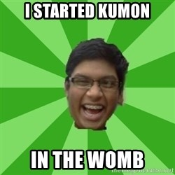 Excited Brown Kid - I started Kumon In the womb
