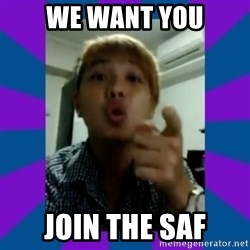 Aaron Tan the Angry Beng - WE WANT YOU JOIN THE saf