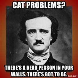 Poe - Cat Problems? There's A dead PErson in your Walls. There's Got To be.