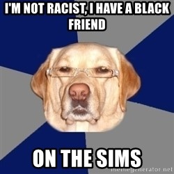 Racist Dawg - i'm not racist, i have a black friend on the sims