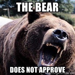 Bear week - THE BEAR DOES NOT APPROVE