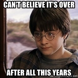 Harry Potter 2 - Can't believe it's over after all this years