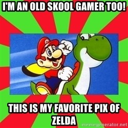 Luelinks - I'm an old Skool gamer too! This is my favorite pix of zelda
