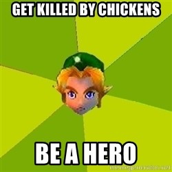 Quest Advice Link - get killed by chickens be a hero