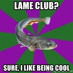 Judgemental Catfish - lame club? sure, i like being cool