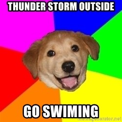 Advice Dog - THUNDER STORM OUTSIDE GO SWIMING