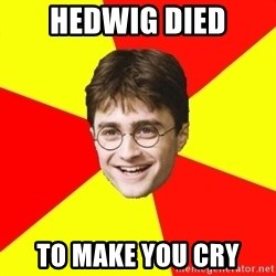 cheeky harry potter - HEDWIG DIED TO MAKE YOU CRy