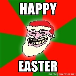 Santa Claus Troll Face - Happy EASTER
