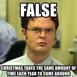 False guy - false christmas takes the same amount of time each year to come around