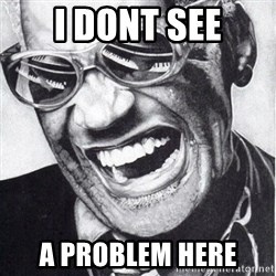 ray charles - I dont see a problem here