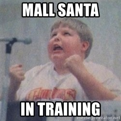 The Fotographing Fat Kid  - Mall Santa  In Training