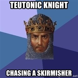 Age Of Empires - Teutonic Knight Chasing a skirmisher
