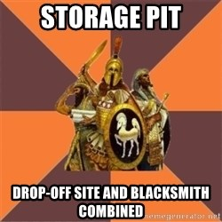 Age of Empires '97 - Storage Pit Drop-off Site and Blacksmith combined