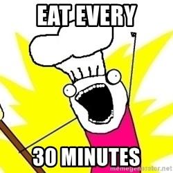 BAKE ALL OF THE THINGS! - eat every 30 minutes