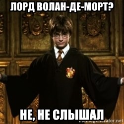Harry Potter Come At Me Bro - Лорд волан-де-морт? не, не слышал