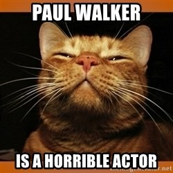 Kitty Smug - paul walker is a horrible actor