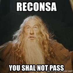 You shall not pass - RECONSA YOU SHAL NOT PASS