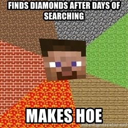 Minecraft Guy - FINDS DIAMONDS AFTER DAYS OF SEARCHING MAKES HOE