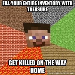 Minecraft Guy - fill your entire inventory with treasure get killed on the way home