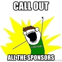 ALL THE THINGS TOBY - Call out all the sponsors