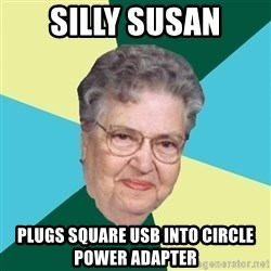Abuelaold - SILLY SUSAN PLUGS SQUARE USB INTO CIRCLE POWER ADAPTER