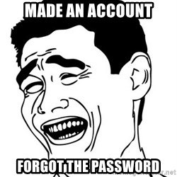Yao Ming - made an account forgot the password