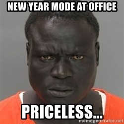 Hard Working Serious Guy - new year mode at office priceless...