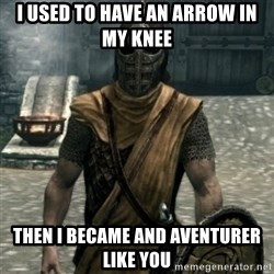 skyrim whiterun guard - I used to have an arrow in my knee Then I became and aventurer like you
