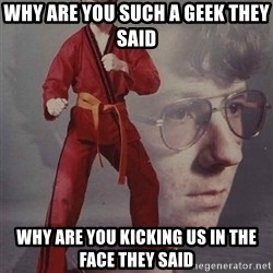PTSD Karate Kyle - why are you such a geek they said why are you kicking us in the face they said