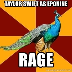 Thespian Peacock - Taylor Swift as eponine rage