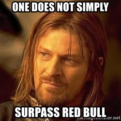 Boromir - One does not simply surpass Red Bull