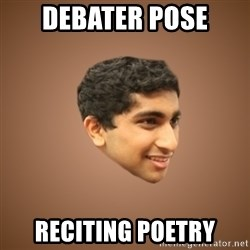 Handsome Indian Man - debater pose reciting poetry