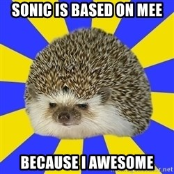 Disapproval Hedgehog - sonic is based on mee because i awesome