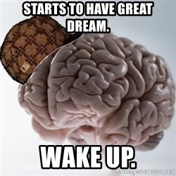 Scumbag Brain - starts to have great dream. wake up.