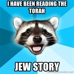 Lame Pun Coon - I have Been reading the torah jew story