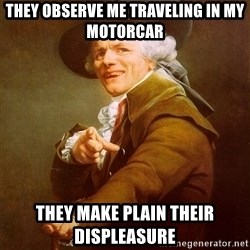 Joseph Ducreux - They observe me traveling in my motorcar they make plain their displeasure
