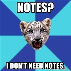 Newbie Writer Leopard - notes? i don't need notes.