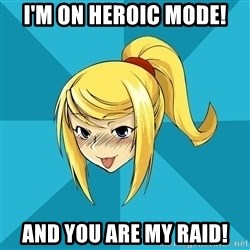 Horney Samus - i'm on heroic mode! and you are my raid!