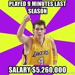 Lame Luke Walton - played 9 minutes last season salary $5,260,ooo
