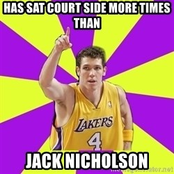 Lame Luke Walton - Has sat court side more times than jack nicholson