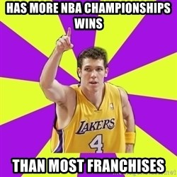 Lame Luke Walton - Has more NBa championships Wins Than Most franchises