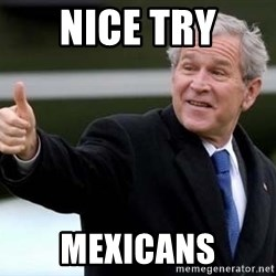 nice try bush bush - nice try mexicans