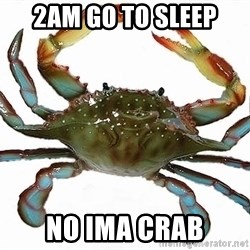 Boss Crab - 2am go to sleep  no ima crab