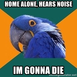 Paranoid Parrot - HOME ALONE, HEARS NOISE IM GONNA DIE