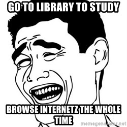 Yao Ming - Go to library to study Browse internetz the whole time
