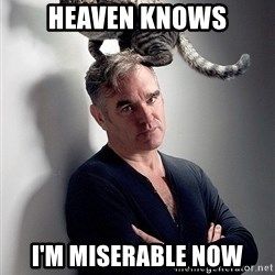 morrissey - HEAVEN KNOWS I'M MISERABLE NOW