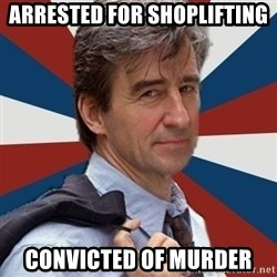 Jack McCoy - Arrested for shoplifting convicted of Murder