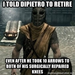 skyrim whiterun guard - I told dipietro to retire Even after he took 10 arrows to both of his surgically repaired knees