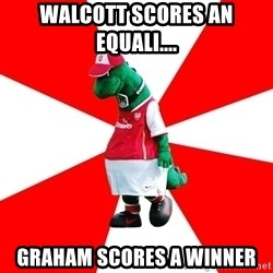 Arsenal Dinosaur - Walcott scores an equali.... Graham scores a winner